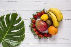 Mix of fresh fruits stock photos