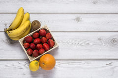 Mix of fresh fruits royalty free stock photography