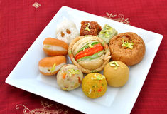Mix Fresh Mithai Stock Images