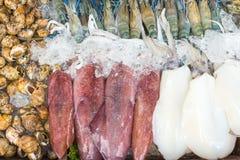 Mix fresh seafood. On ice Stock Photography