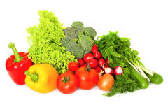 Mix of fresh vegetables Stock Photography