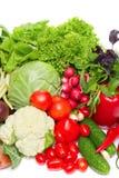 Mix of fresh vegetables. Isolated on white Stock Image