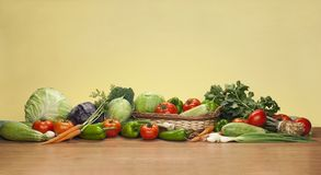 Mix of fresh vegetables. For diet Royalty Free Stock Photo