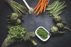 Mix of fresh vegetables Royalty Free Stock Images