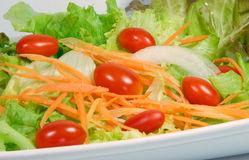 Mix fresh vegetables. Mix fresh vegetable,carrot,on ion,tomato and lettuce stock photography