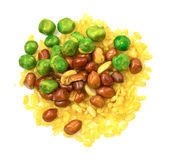 Mix fried beans Royalty Free Stock Photography