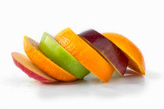 Mix fruit. Fruit line arrangement,Mixed fruit Royalty Free Stock Photos