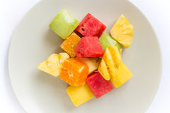 Mix fruit is fresh. For health Royalty Free Stock Photography