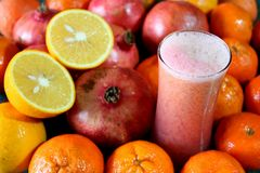 Mix fruit fresh juice Stock Photography