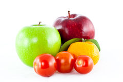 Mix fruit isolated Royalty Free Stock Photos