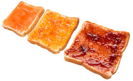 Mix Fruit Jam Spread And Toast IX Stock Photos