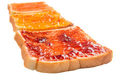 Mix Fruit Jam Spread And Toast VII royalty free stock photos