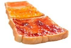Mix Fruit Jam Spread And Toast VII Royalty Free Stock Photos