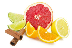 Mix Fruit sliced Stock Photo