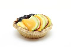 Mix fruit tart Stock Image