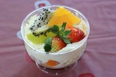 Mix fruit tarts Stock Photo