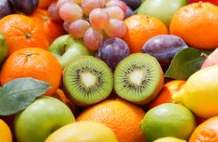 Mix of fruits as background royalty free stock photos