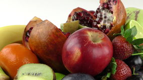 Mix of Fruits Composition stock footage