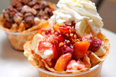 Free Mix Fruits Ice Cream Royalty Free Stock Photography - 19976887
