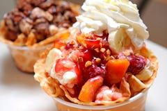 Mix fruits ice cream Royalty Free Stock Photography