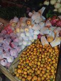Mix fruits. At Lao market Royalty Free Stock Photos