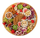 Mix fruits and nuts, healthy diet, Turkish sweets, eating lean Stock Photos