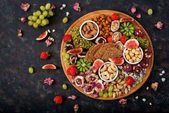 Mix fruits and nuts, healthy diet, Turkish sweets, eating lean. Stock Image