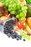 MIX OF FRUITS AND VEGETABLES Royalty Free Stock Photo