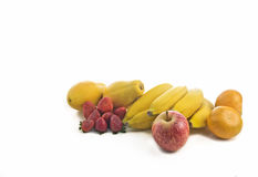 Mix of fruits. On white background Royalty Free Stock Image