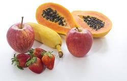 Mix Fruits. On white background Royalty Free Stock Photo