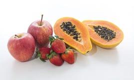 Mix Fruits. On white background Royalty Free Stock Image