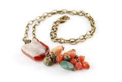 Mix gem necklace Royalty Free Stock Image