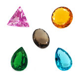 Mix gemstones Stock Photography