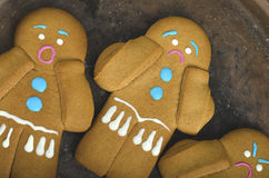 Mix of gingerbread man cookies Stock Photography