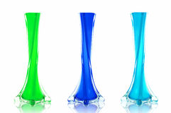Mix glass vase Stock Photo