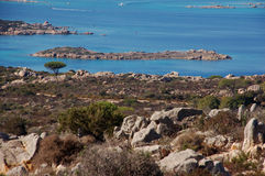Mix of granite and sea. And granite sea of Sardinia Royalty Free Stock Images