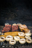 Mix grill barbeque Royalty Free Stock Photo