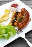 Mix grilled sausage Royalty Free Stock Image