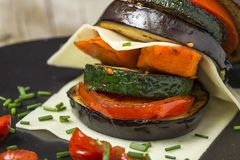 Mix of grilled vegetables royalty free stock photos