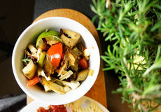 Mix of grilled vegetables on the plate Royalty Free Stock Photography