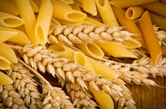 Mix group of italian pasta Royalty Free Stock Photo