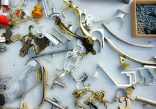 Mix from hangers and handles in a box Royalty Free Stock Image