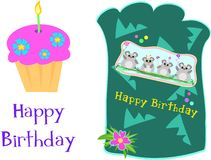 Mix of Happy Birthday Greetings. Here are some pictures to send a Birthday Greeting Royalty Free Stock Photo