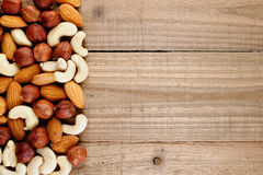 Mix of hazelnuts, almonds and cashew nuts Stock Image