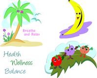 Mix of Health and Wellness Images Royalty Free Stock Photo
