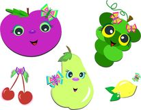 Mix of Healthy Face Fruits Stock Photography