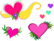 Mix of Hearts and Décor Stock Photo