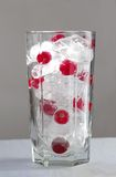 Mix ice and cranberry in glass Royalty Free Stock Photography