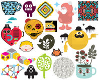 Mix of images and icons. vol.66. Mix of different vector images and icons Stock Photos