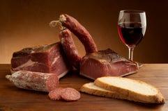 Mix italian salami Royalty Free Stock Photo